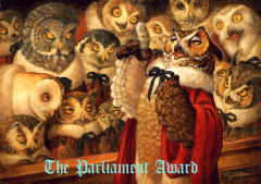 Awards, owls, writing John de Gruyther